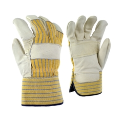 Glove-Cowgrain-Palm lined-Striped-PE