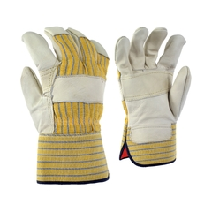 Glove-Cowgrain-Foam/Flan.-Striped-PE