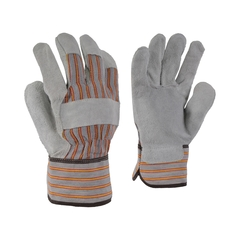 Glove-Cowsplit-Striped-PE-Unlined