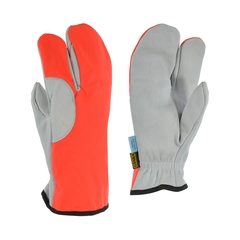 One-finger mitt-Water repell.leather-Ball.nylon-Anti-chip-Do