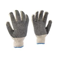 Glove-Poly./PVC-Elast.knit
