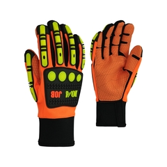 Glove-Fake leather-Spandex-PVC dots