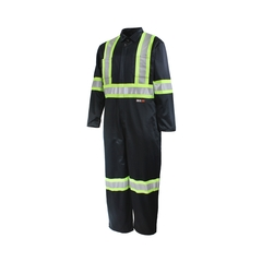 Coverall-65%polyester 35%cotton-Reflect.stripe