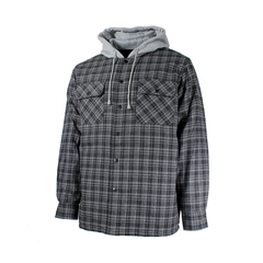 Shirt jacket-Flan.-Quilted nyl.-Hood