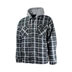 Chemise de type manteau-Polar-Doublure de Boa-Capuchon