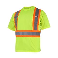 T-Shirt manches courtes-10/4 JOB Quick Dry-Bande réfléch.