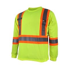 T-Shirt manches longues-10/4 JOB Quick Dry-Bande réfléch.-Su
