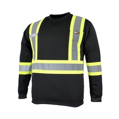 T-Shirt manches longues-10/4 JOB Quick Dry-Bandes 3M-Support