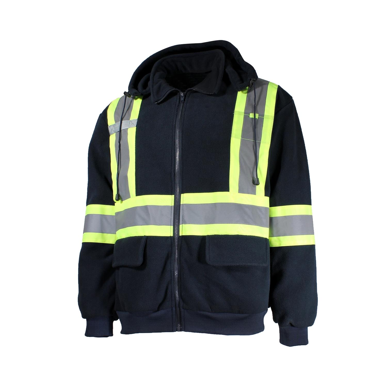 Manteau-Unisexe-Polar-Bande réfléch.-Cap.détach.-Support Rad