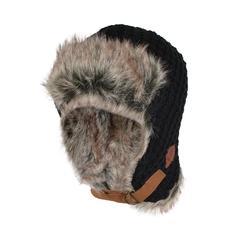 Hat-Acry. knit-Fake fur