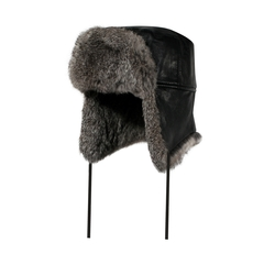 Hat-Goatskin-Quilted nyl.-Rabbit fur