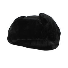 Hat-Polycotton-Quilted nyl.-Fake fur