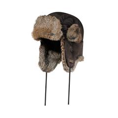 Hat-Nylon-Quilted nyl.-Rabbit fur