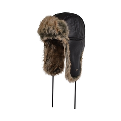 Hat-Fake leather-Fake fur