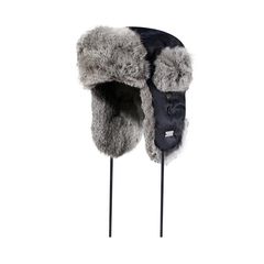 Hat-Nylon-Quilted nyl.-Rabbit fur