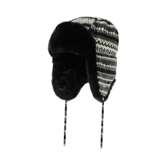 Hat-Knit-Fake fur-Quilted nyl.