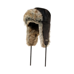 Hat-Nylon-Quilted nyl.-Fake fur