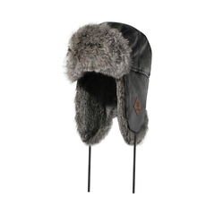Hat-Deerskin-Quilted nyl.-Fake fur