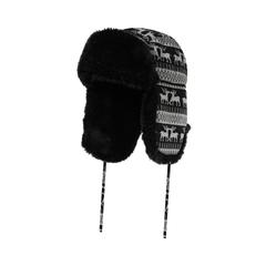Hat-Knit-Fake fur