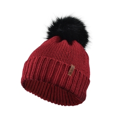 Tuque-Acry. knit-Fleece-Fake fur