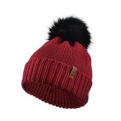 Tuque-Acry. knit-Fleece-Fake fur