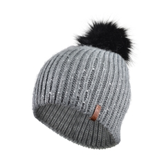 Tuque-Acrylic knit-Fleece-Pompom
