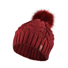 Tuque-Acrylic knit-Fleece-Pompom
