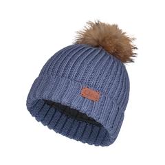 Tuque-Acrylic knit-Fleece-Racoon  fur