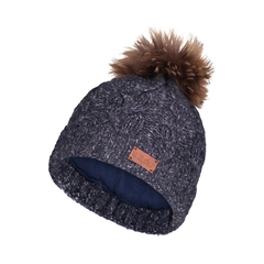 Tuque-20%wool18%acry.62%poly-Fleece-Racoon  fur