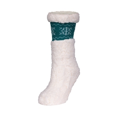 Bas pantoufles-Tricot acrylique-Poly.