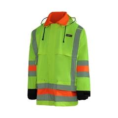 Signaller rainsuit jacket-220d Nylon/PVC-Multi-Function pock