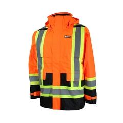 Jacket-Unisex-Polyester 300D PU-Heat resistant-Reflect.strip