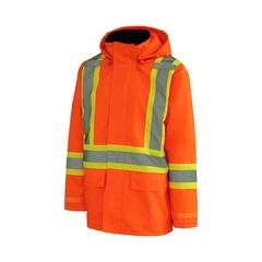 Rainsuit Jacket-150D Oxford/PU-Quilted nyl.-Heatlocker-3M st