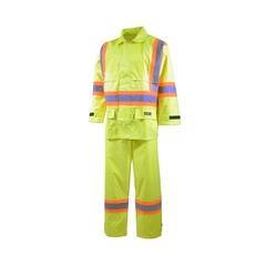 Suit-220d Nylon/PVC-Detach.hood vision-Reflect. stripes