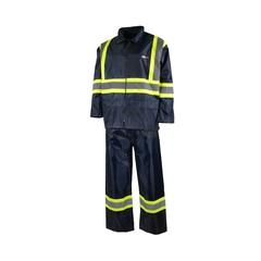 Suit-190T Nylon/PVC-Storage pouch-Reflect. stripes