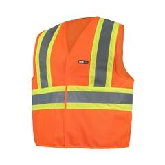 Sleeveless vest-Poly knit 120gr-Reflect.stripe