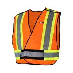 Sleeveless vest-Poly. knit 140gr-Reflect. stripes