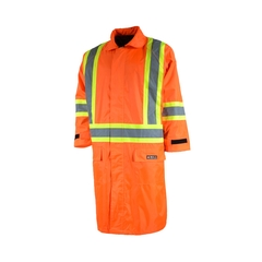 Long jacket-220d Nylon/PVC-Detach.hood vision-Reflect. strip