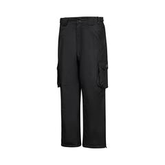 Pantalon à la taille-Nylon/PU-Scellées-Leg zip