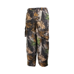 Pantalon à la taille-Poly./PU-Nylon-Scellées-Leg zip