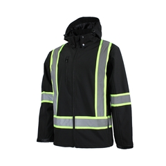 Manteau-Polyester/Spandex-Bande réfléch.-Cap.détach.