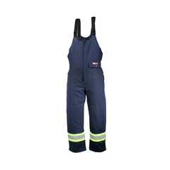 Bib pants-For Welders - Cotton 100%-Reflect.stripe-CSA--40 °