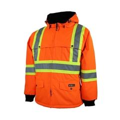 Jacket-End.600d/PU-Sealed-Reflect. stripes-Integrated vest-C