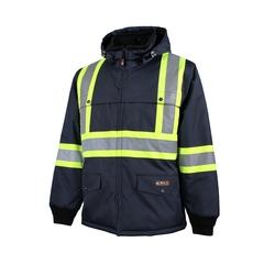 Jacket-End.600d/PU-Reflect. stripes-Integrated vest--40 °C /