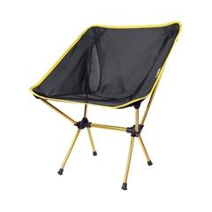 Chaise pliante-100% Poly.-Aluminium-Sac. rangement