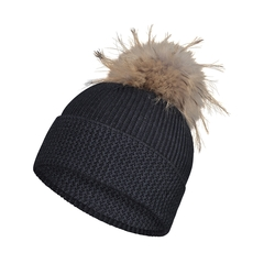 Tuque-55%Acryl./35%Viscose/10%Wool-Fur