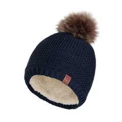 Tuque-Acry. knit-Boa liner-Fake fur
