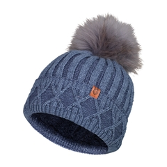 Tuque-Acry. knit-Plush-Fur