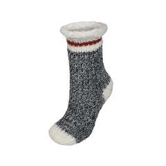 Slippers socks-Acry. knit-Plush