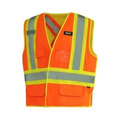 Vest-Poly. knit 140gr-Reflect.stripe-Reversible